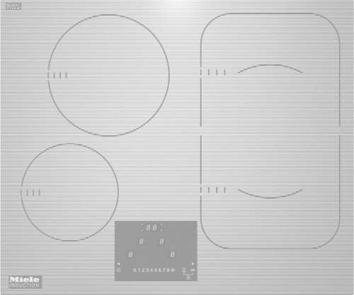 KM 6324-1 induktsioon pliidiplaat, valge