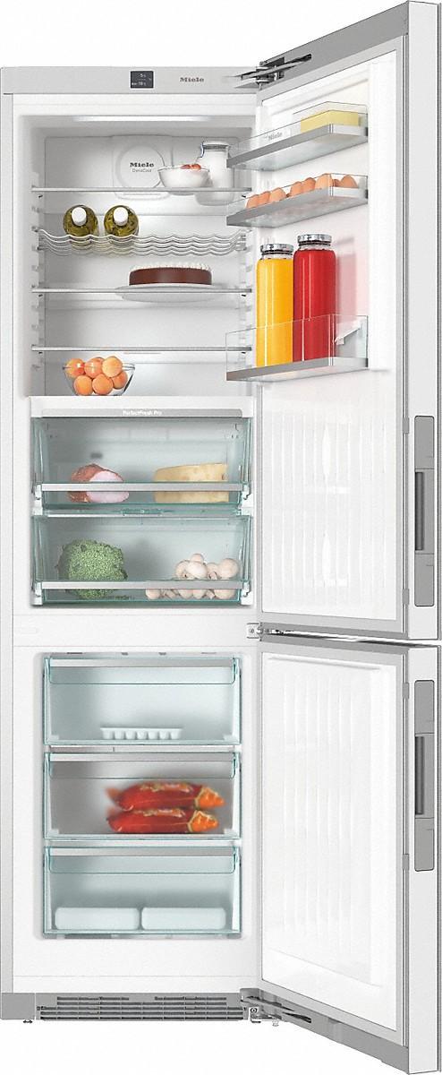 KFN 29683 D külmik-sügavkülmik, valge klaas, eraldiseisev 201 cm