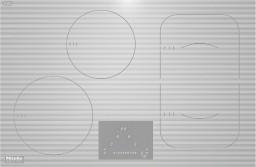 KM 6349-1 induktsioon pliidiplaat, valge, ilma raamita
